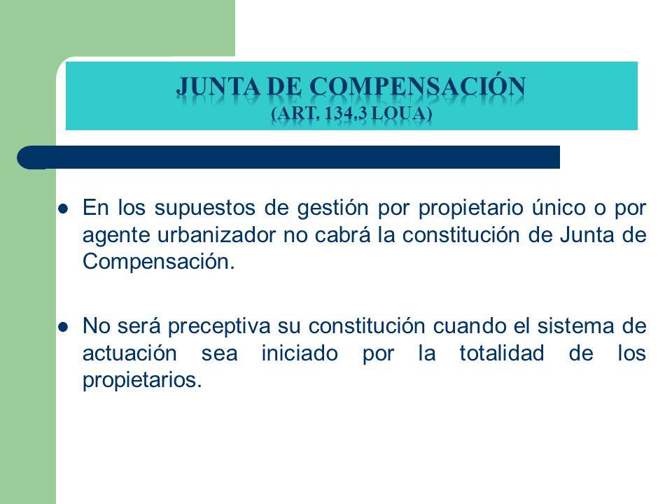 junta de compensación (Art. 134.3 loua)