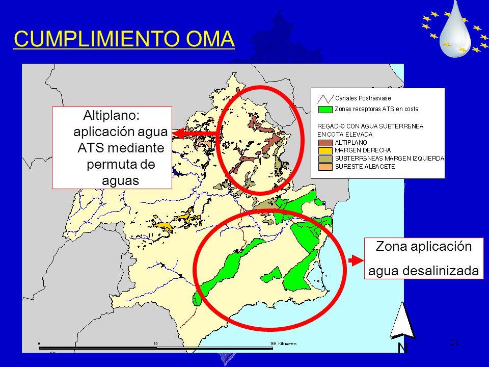 Altiplano: aplicación agua ATS mediante permuta de aguas