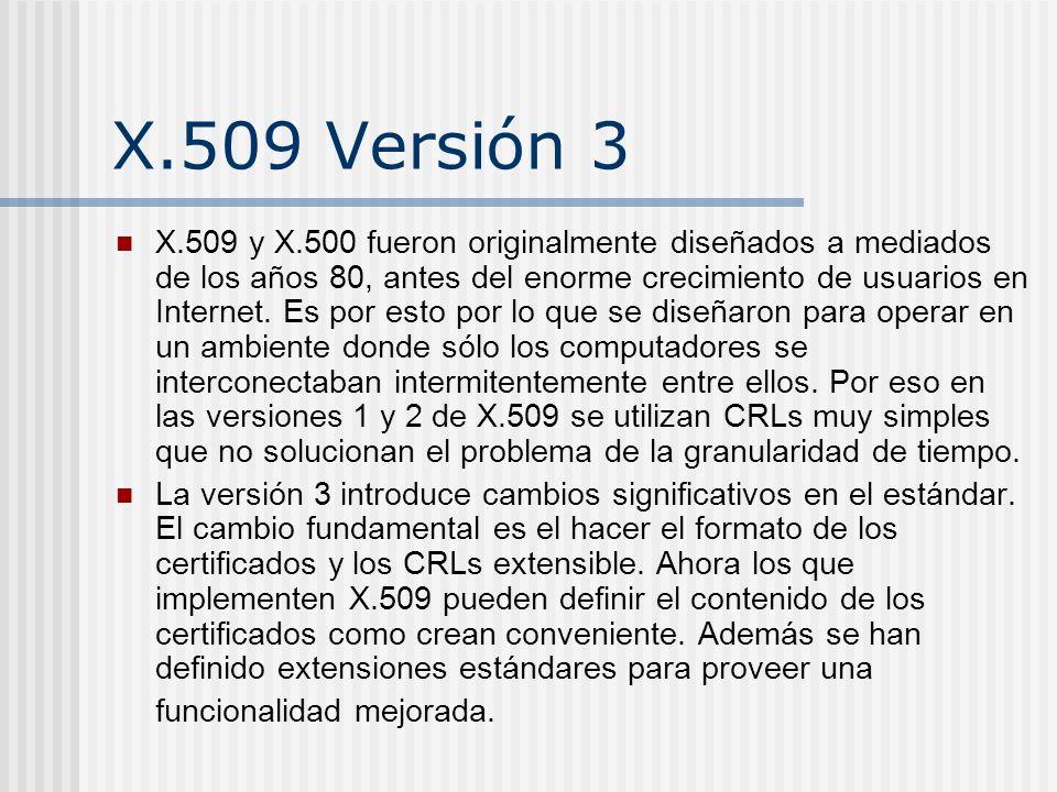 X.509 Versión 3