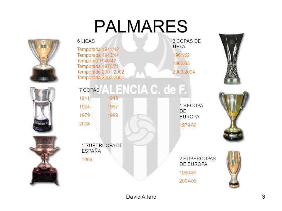 PALMARES David Alfaro 6 LIGAS