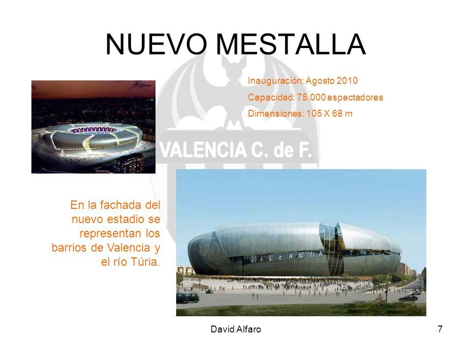 NUEVO MESTALLA Inauguración: Agosto 2010. Capacidad: 75.000 espectadores. Dimensiones: 105 X 68 m.