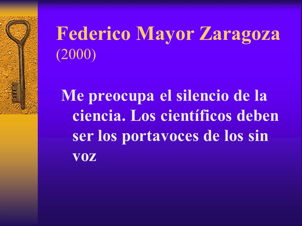 Federico Mayor Zaragoza (2000)