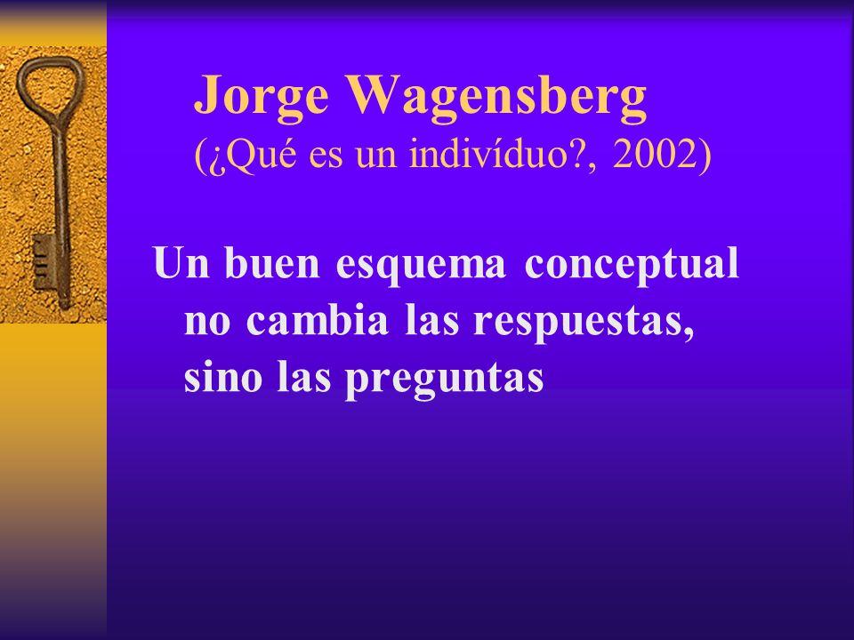 Jorge Wagensberg (¿Qué es un indivíduo , 2002)