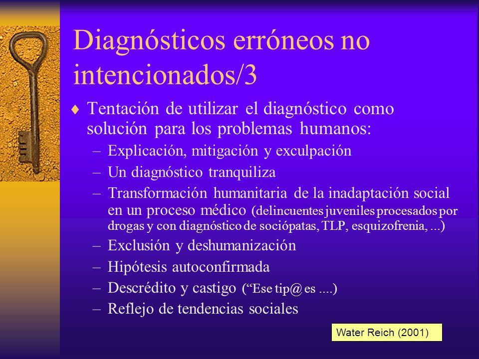 Diagnósticos erróneos no intencionados/3