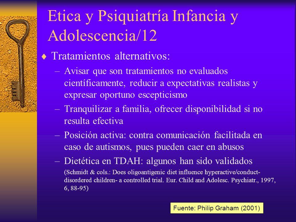 Etica y Psiquiatría Infancia y Adolescencia/12