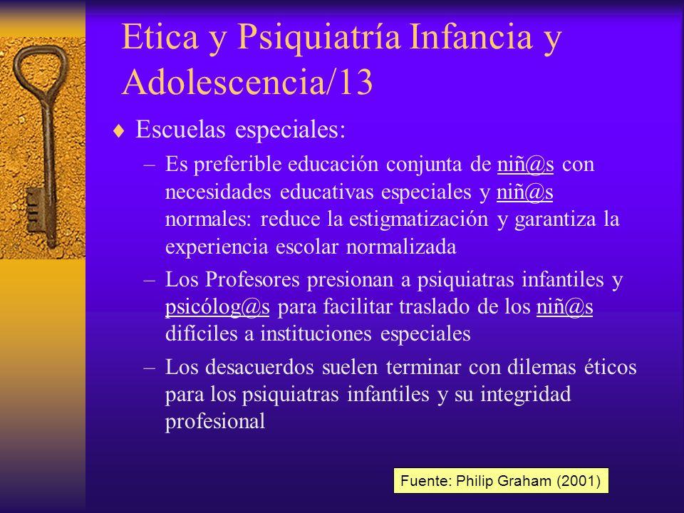Etica y Psiquiatría Infancia y Adolescencia/13