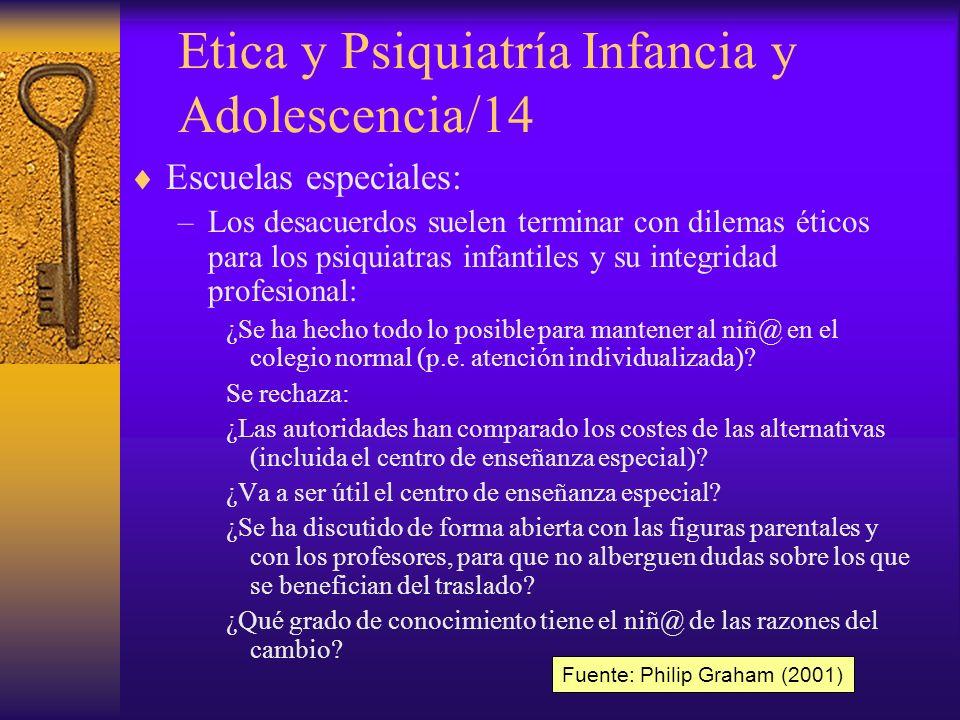 Etica y Psiquiatría Infancia y Adolescencia/14