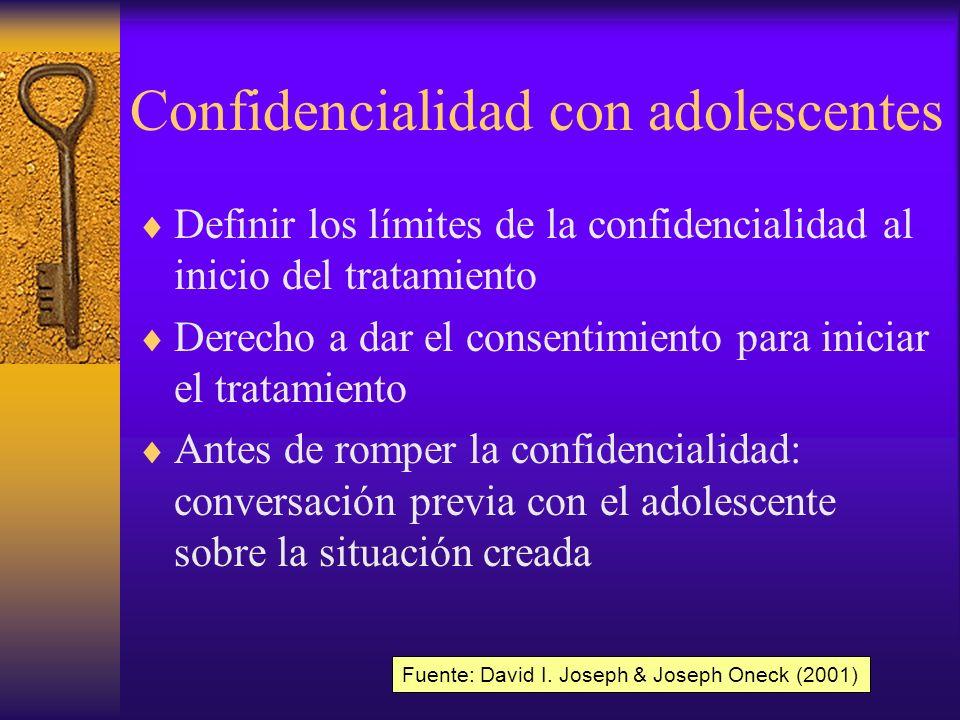 Confidencialidad con adolescentes