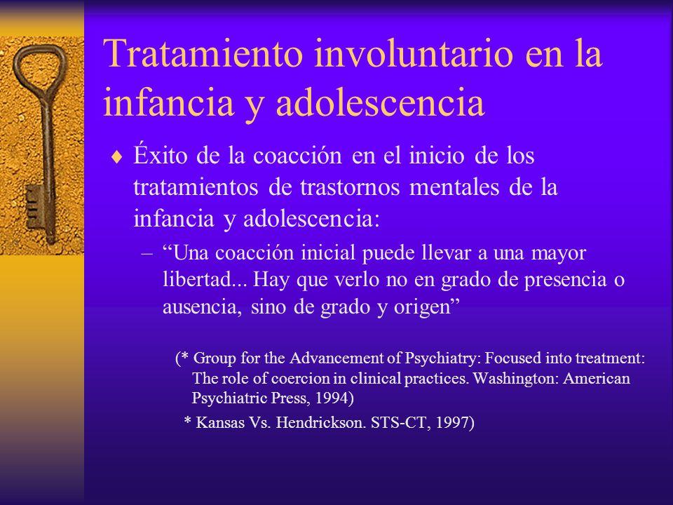Tratamiento involuntario en la infancia y adolescencia