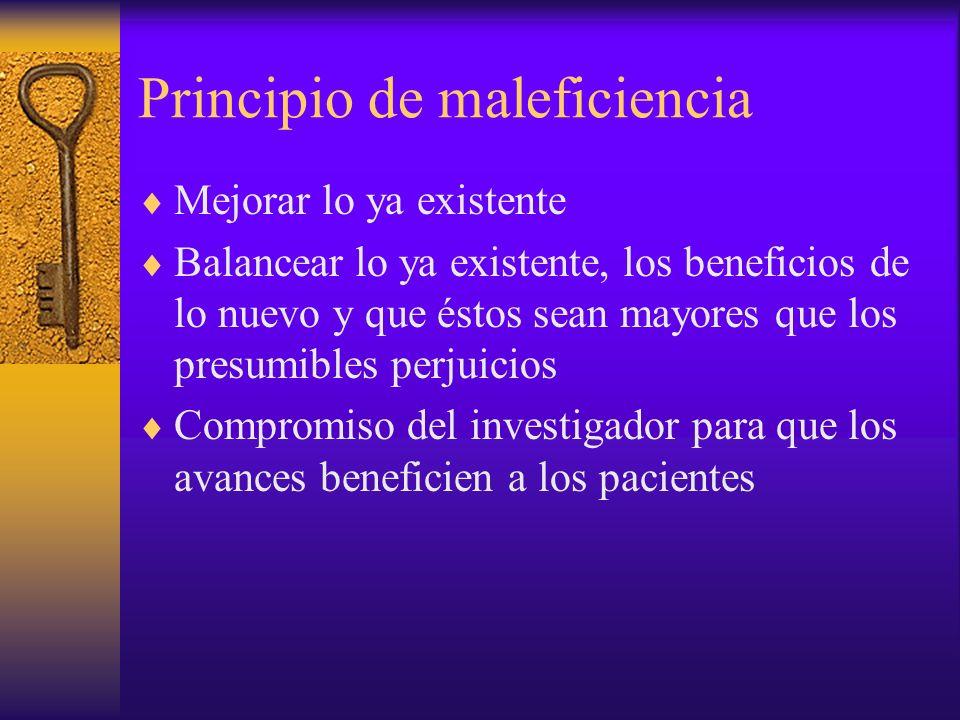 Principio de maleficiencia