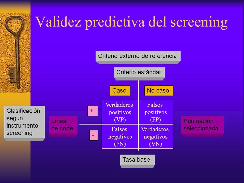 Validez predictiva del screening