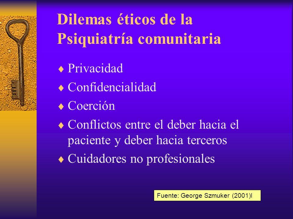 Dilemas éticos de la Psiquiatría comunitaria