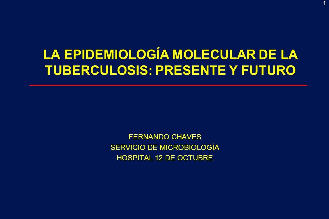 LA EPIDEMIOLOGÍA MOLECULAR DE LA TUBERCULOSIS: PRESENTE Y FUTURO