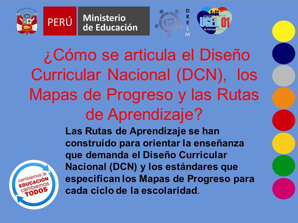 ¿Cómo se articula el Diseño Curricular Nacional (DCN), los Mapas de Progreso y las Rutas de Aprendizaje