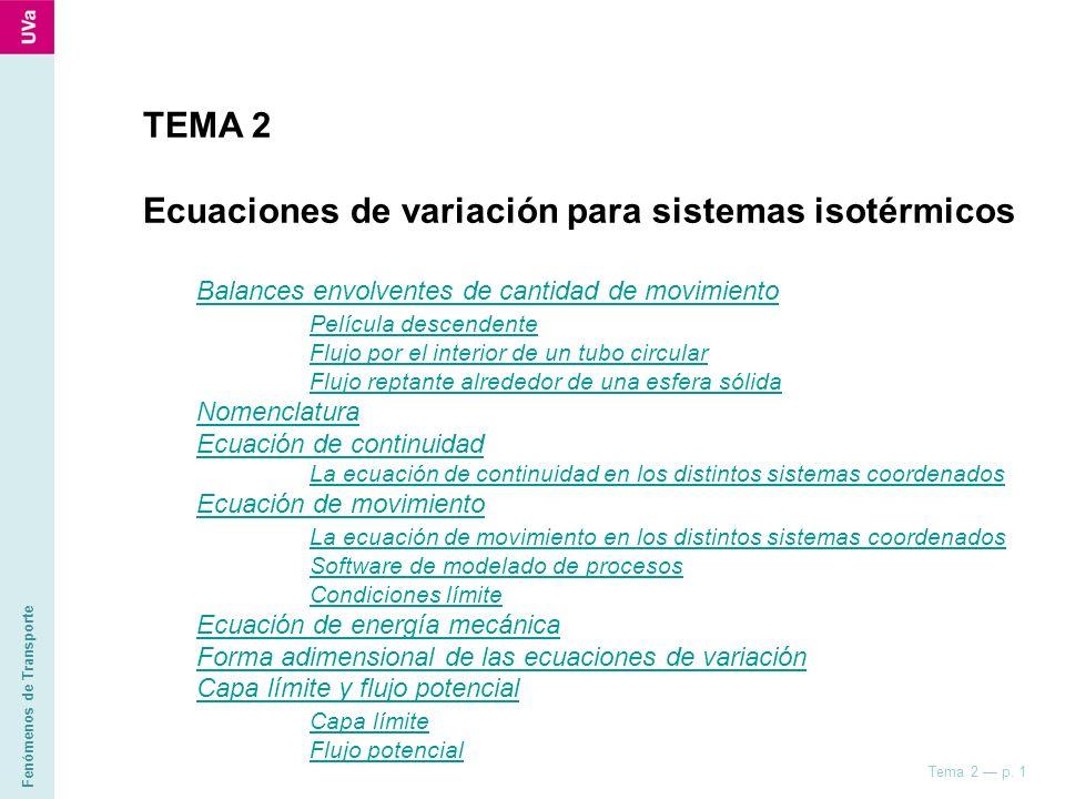 Ecuaciones de variación para sistemas isotérmicos