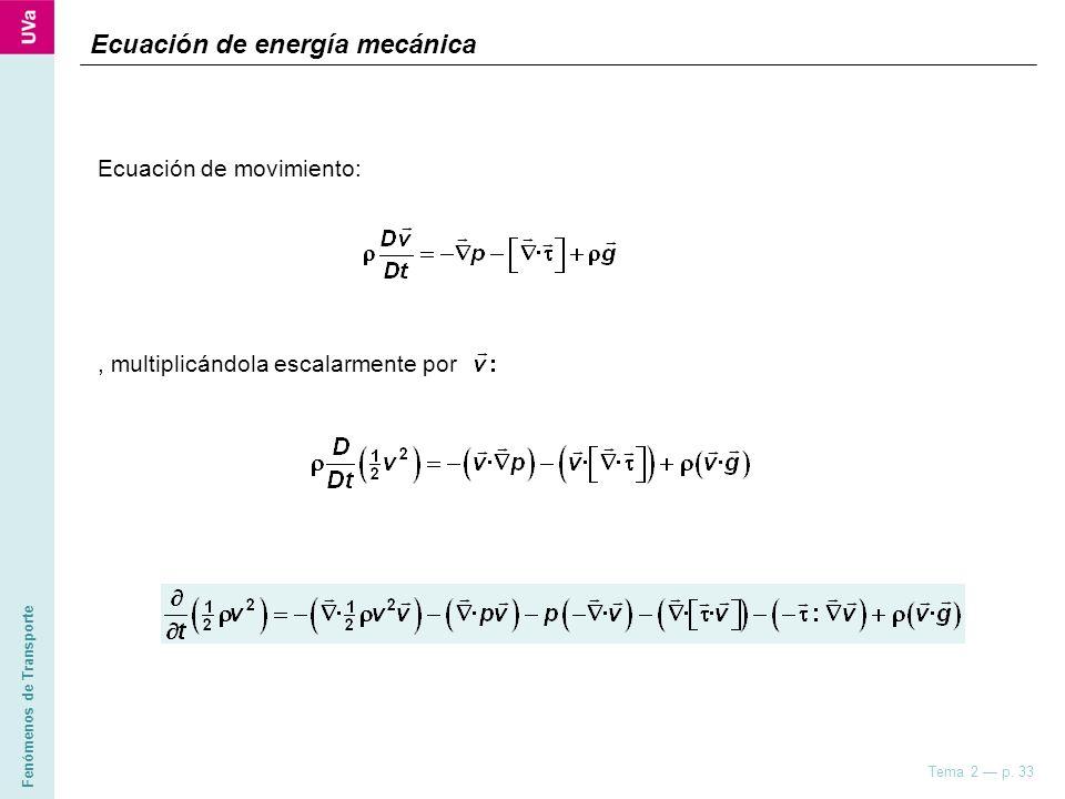 Ecuación de energía mecánica