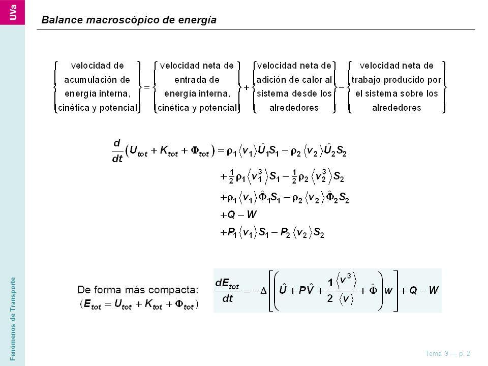 Balance macroscópico de energía