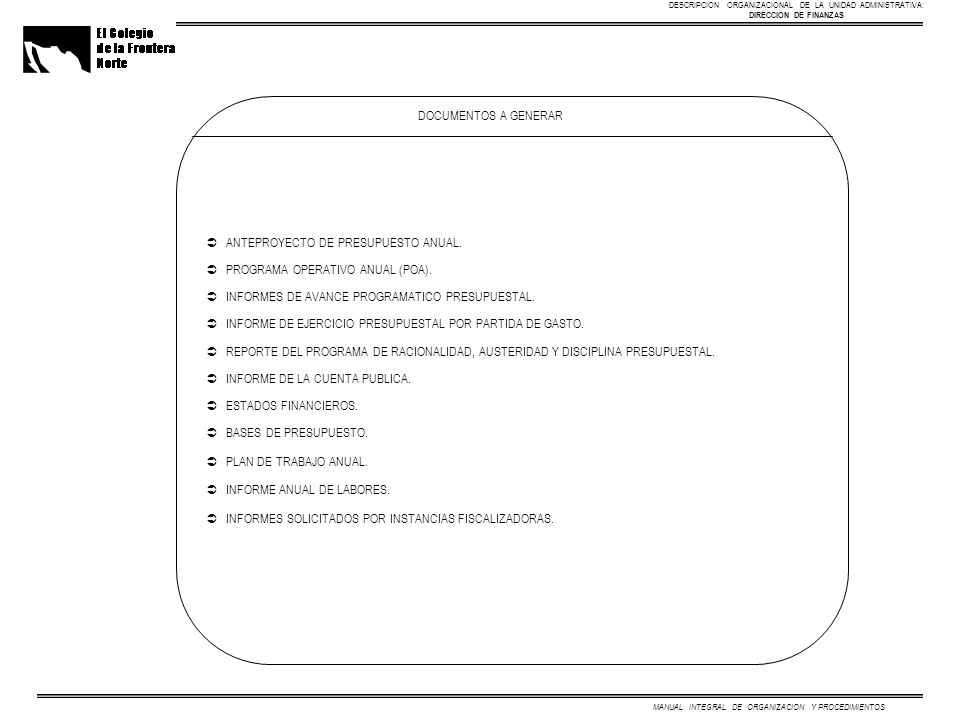 MANUAL INTEGRAL DE ORGANIZACION Y PROCEDIMIENTOS