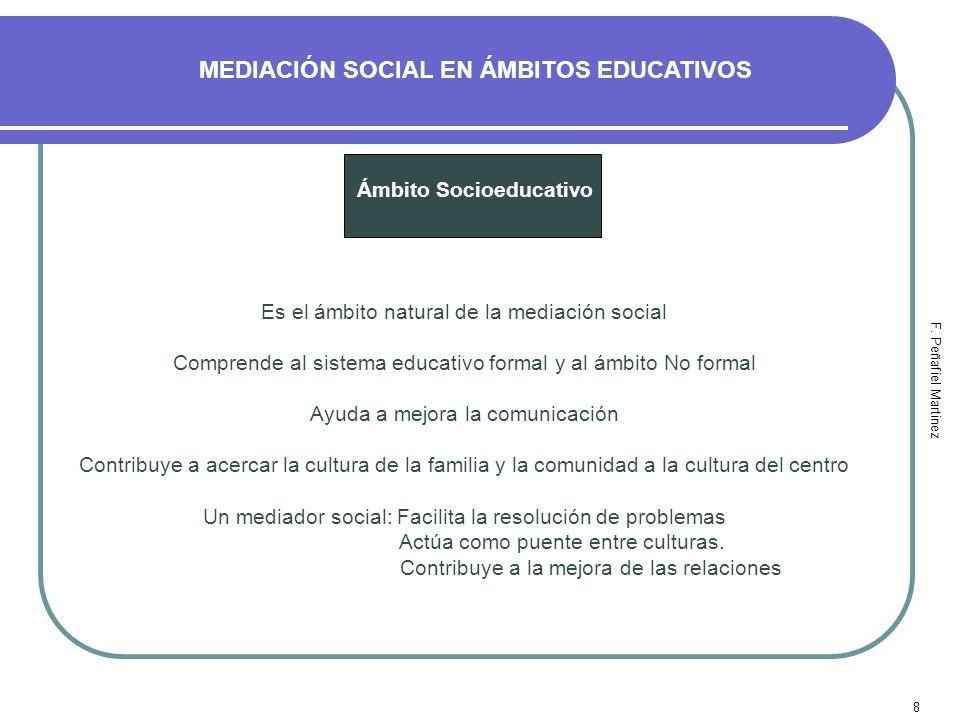 MEDIACIÓN SOCIAL EN ÁMBITOS EDUCATIVOS Ámbito Socioeducativo