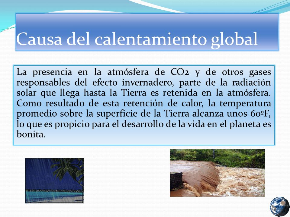 Causa del calentamiento global