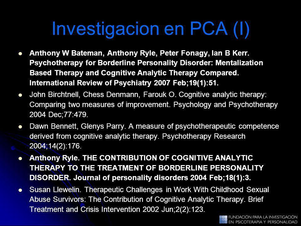 Investigacion en PCA (I)