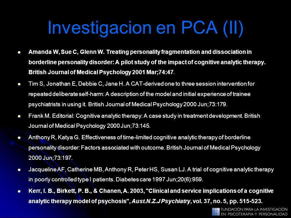 Investigacion en PCA (II)