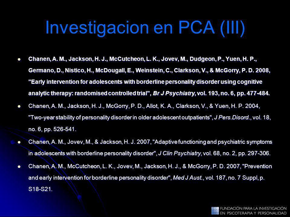Investigacion en PCA (III)