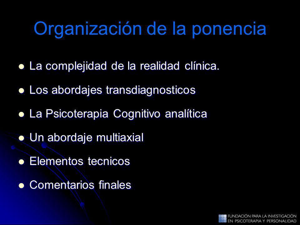 Organización de la ponencia