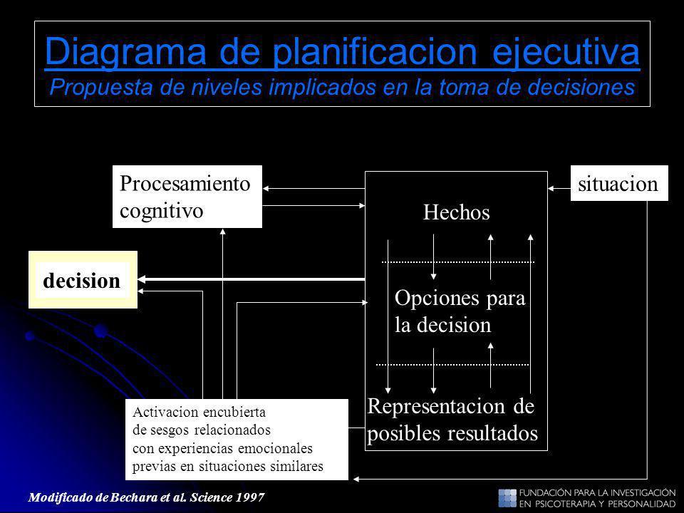 Diagrama de planificacion ejecutiva Propuesta de niveles implicados en la toma de decisiones