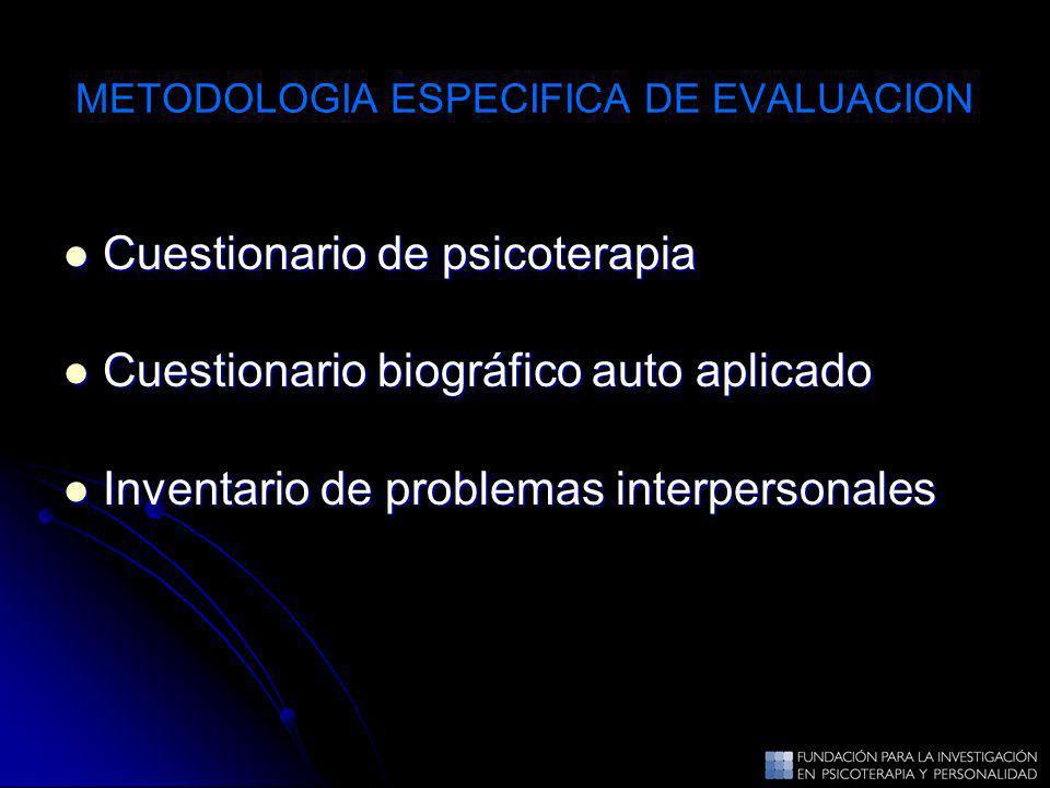 METODOLOGIA ESPECIFICA DE EVALUACION