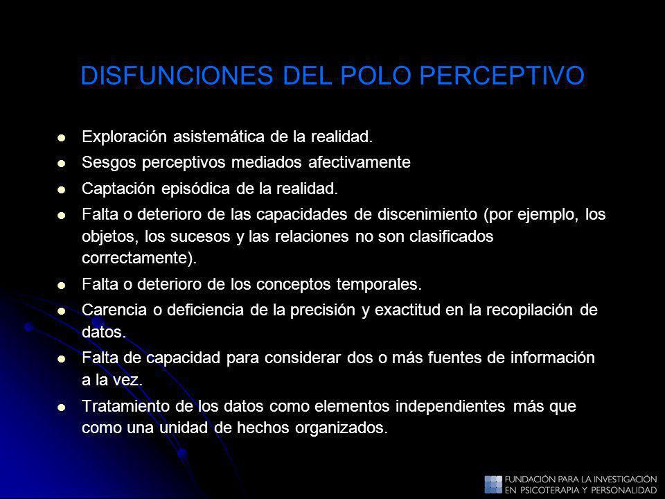 DISFUNCIONES DEL POLO PERCEPTIVO