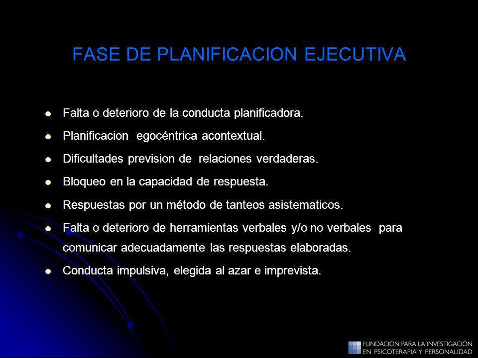 FASE DE PLANIFICACION EJECUTIVA