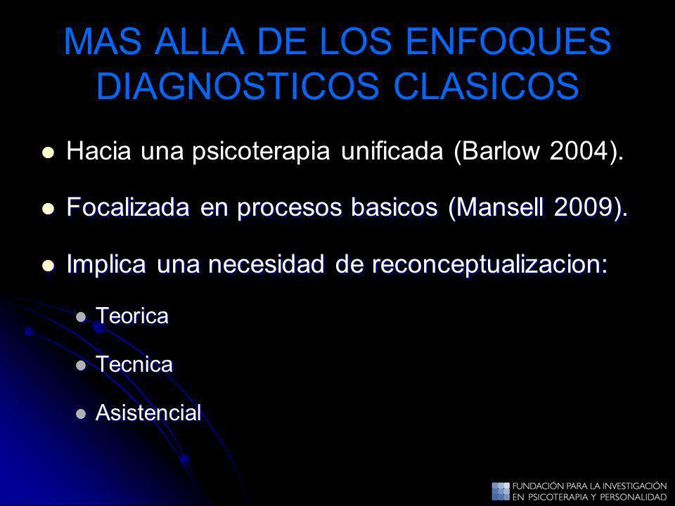 MAS ALLA DE LOS ENFOQUES DIAGNOSTICOS CLASICOS