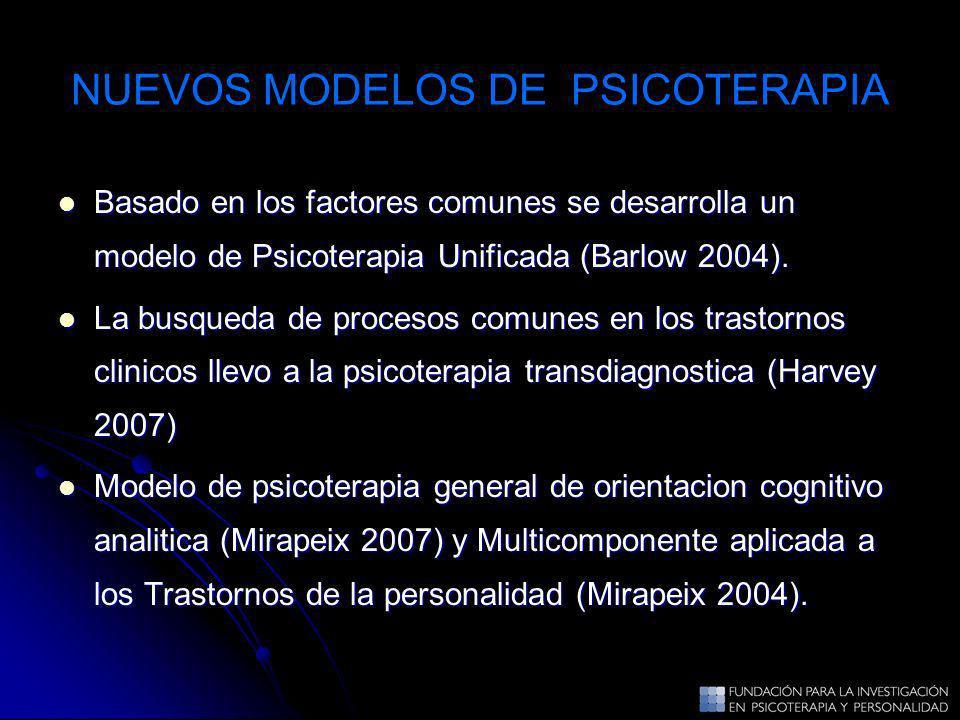 NUEVOS MODELOS DE PSICOTERAPIA