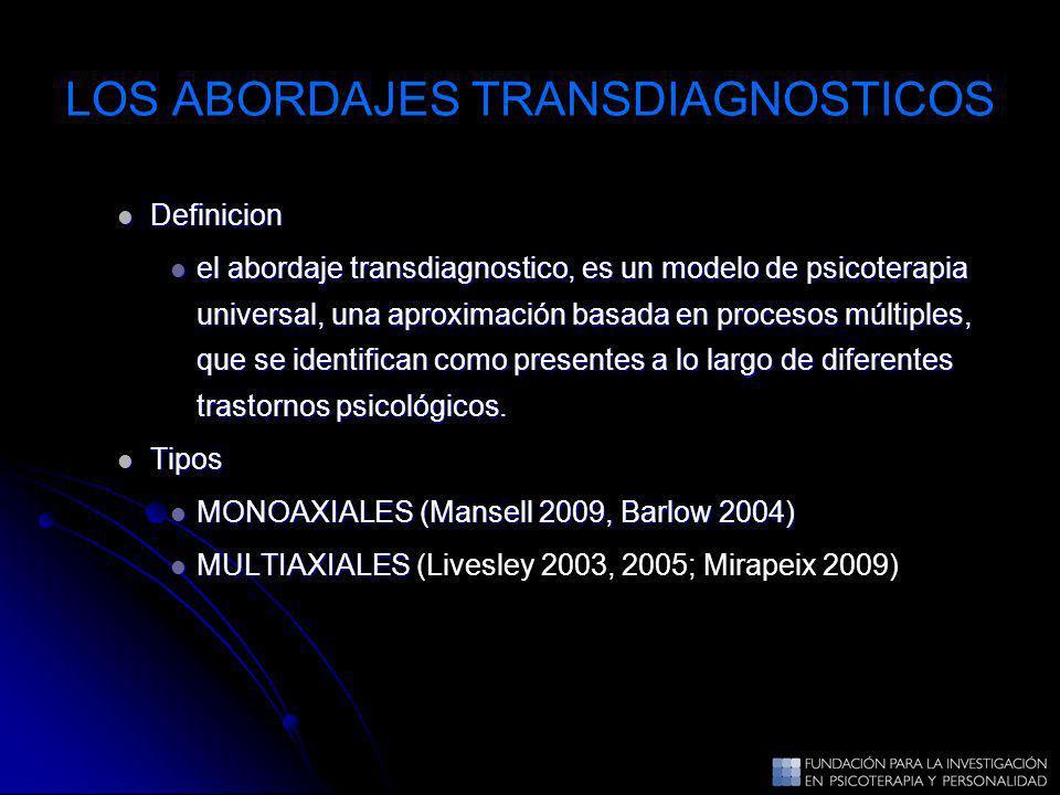 LOS ABORDAJES TRANSDIAGNOSTICOS
