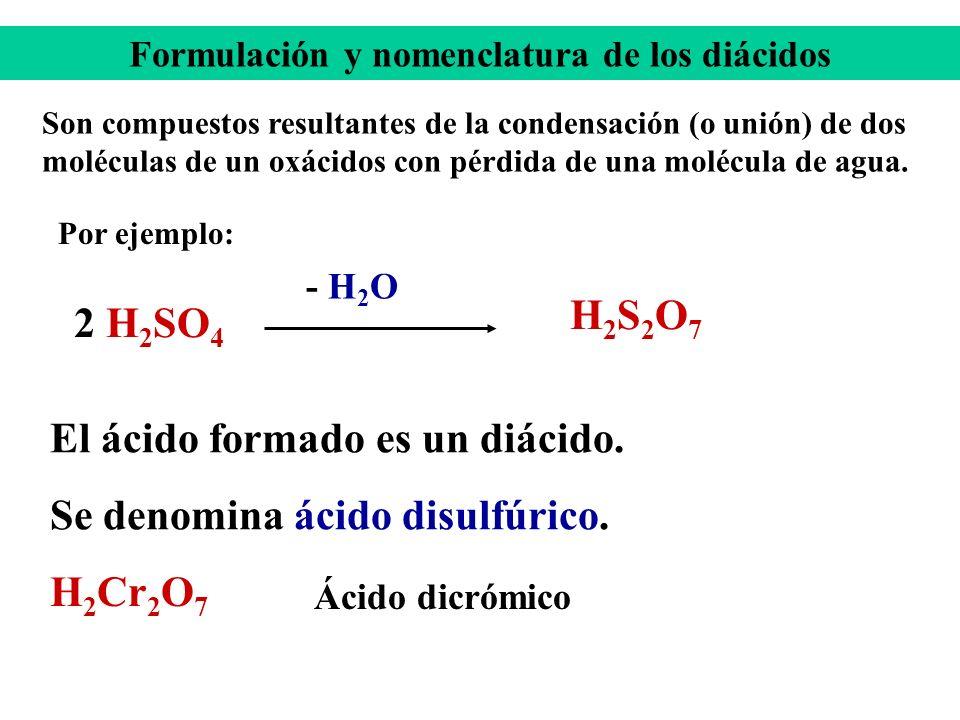 Formulación y nomenclatura de los diácidos
