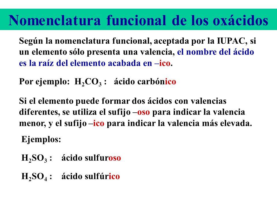 Nomenclatura funcional de los oxácidos