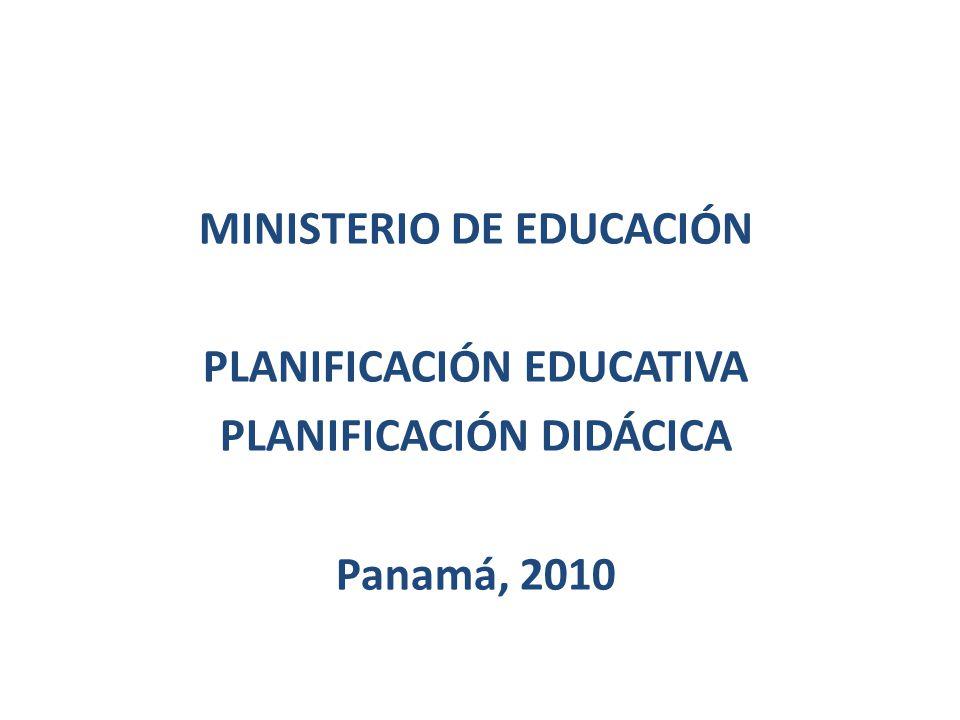 MINISTERIO DE EDUCACIÓN PLANIFICACIÓN EDUCATIVA PLANIFICACIÓN DIDÁCICA