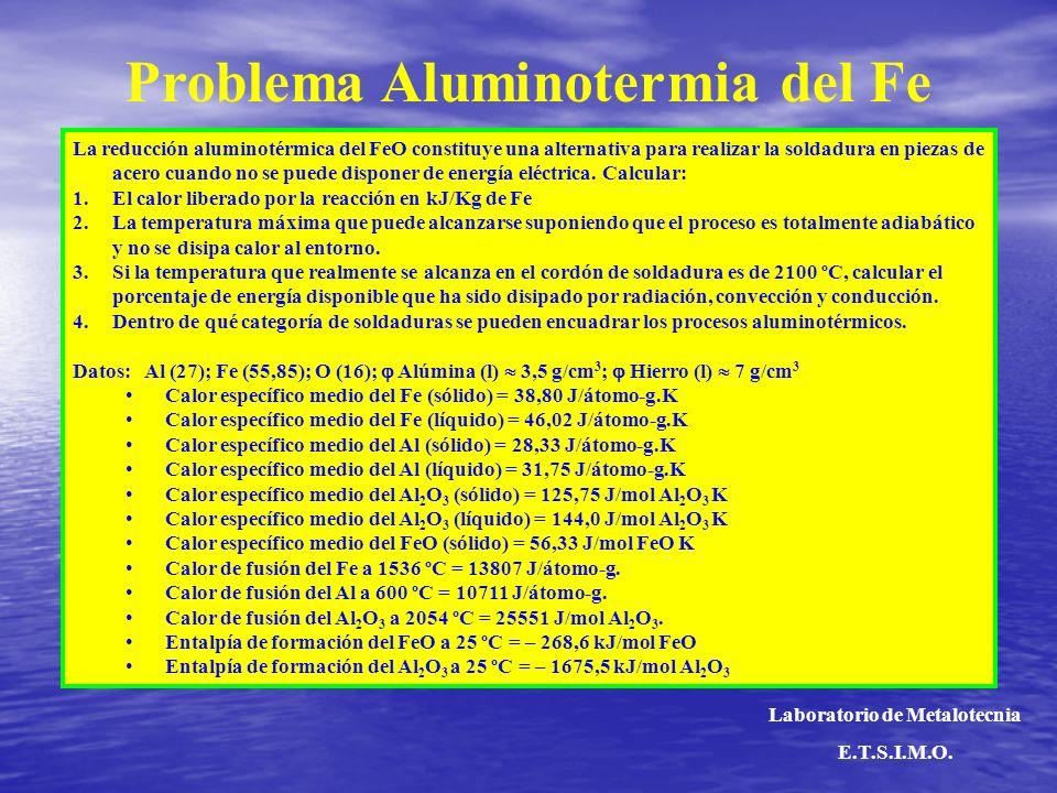 Problema Aluminotermia del Fe Laboratorio de Metalotecnia