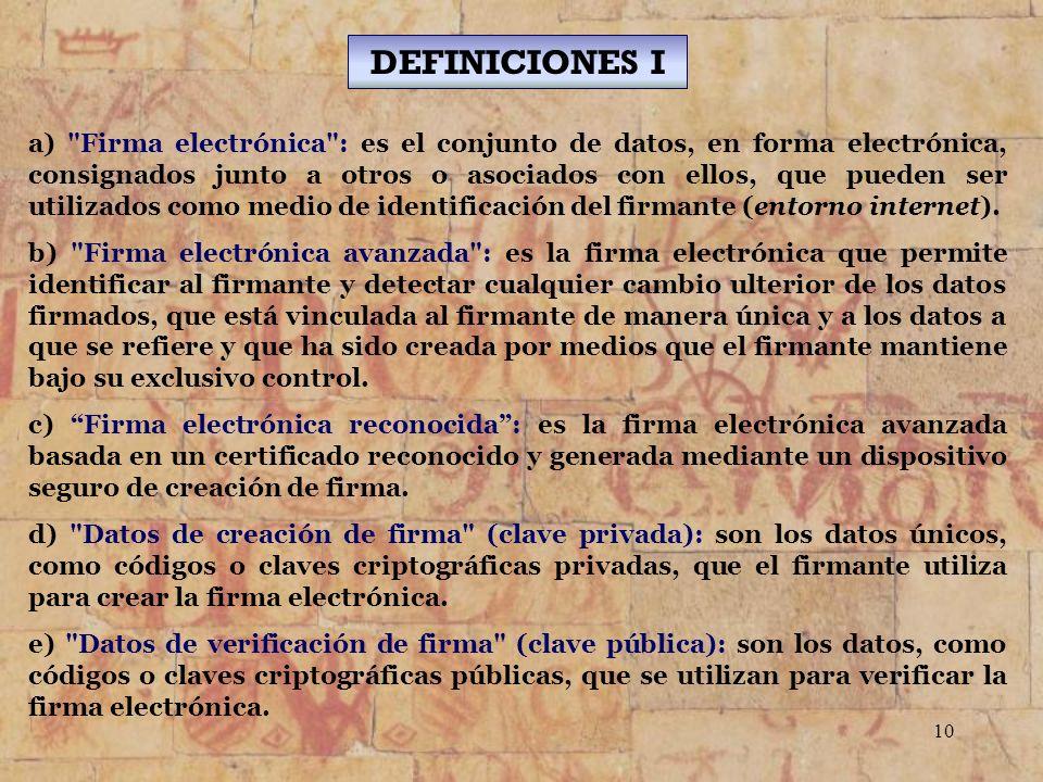 DEFINICIONES I