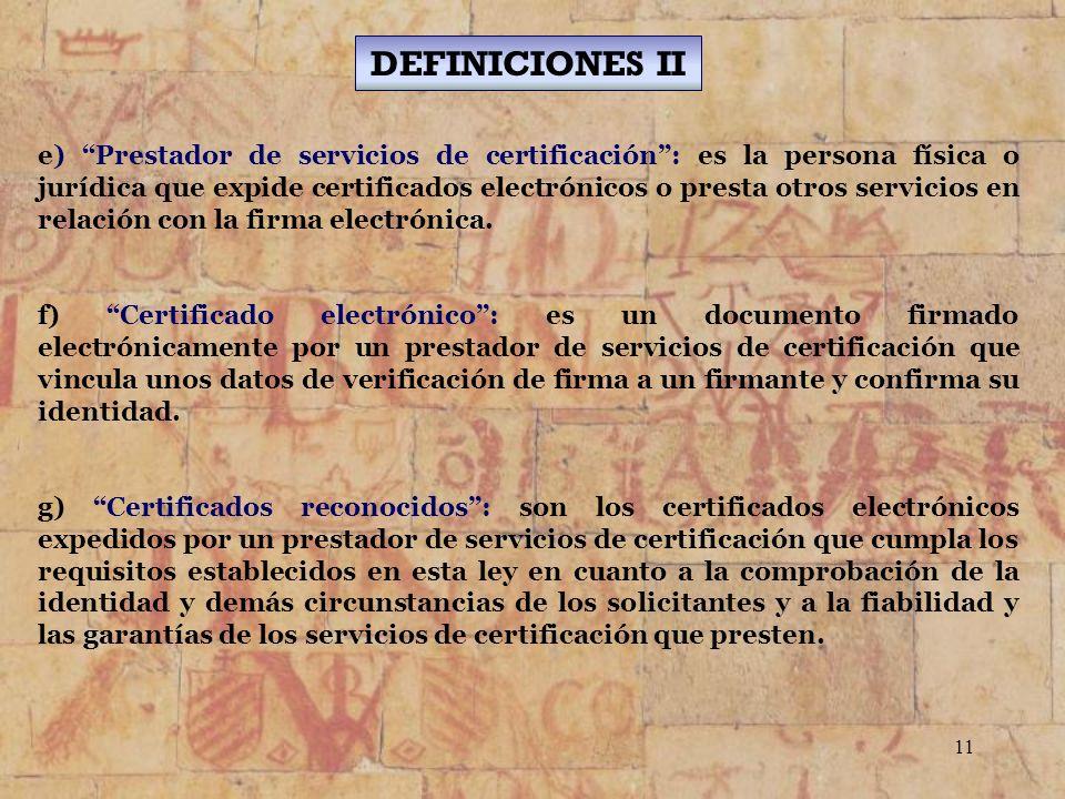 DEFINICIONES II