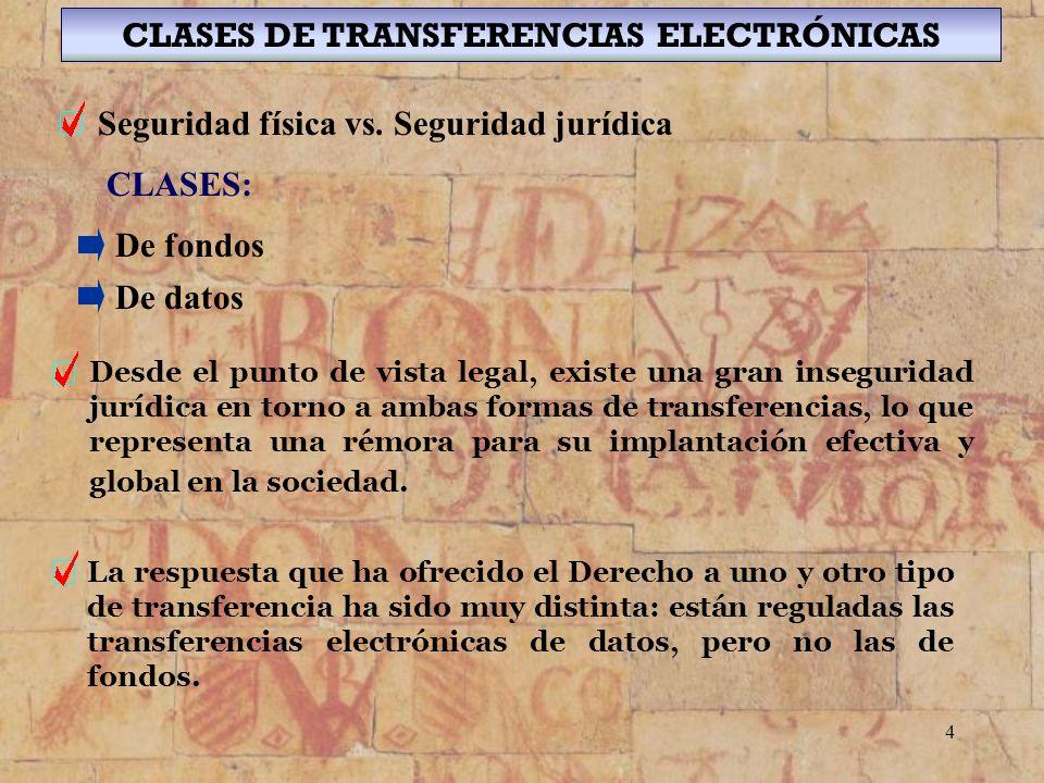 CLASES DE TRANSFERENCIAS ELECTRÓNICAS