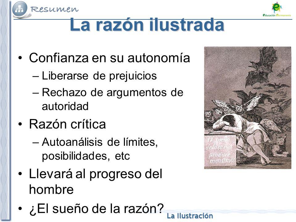 La razón ilustrada Confianza en su autonomía Razón crítica