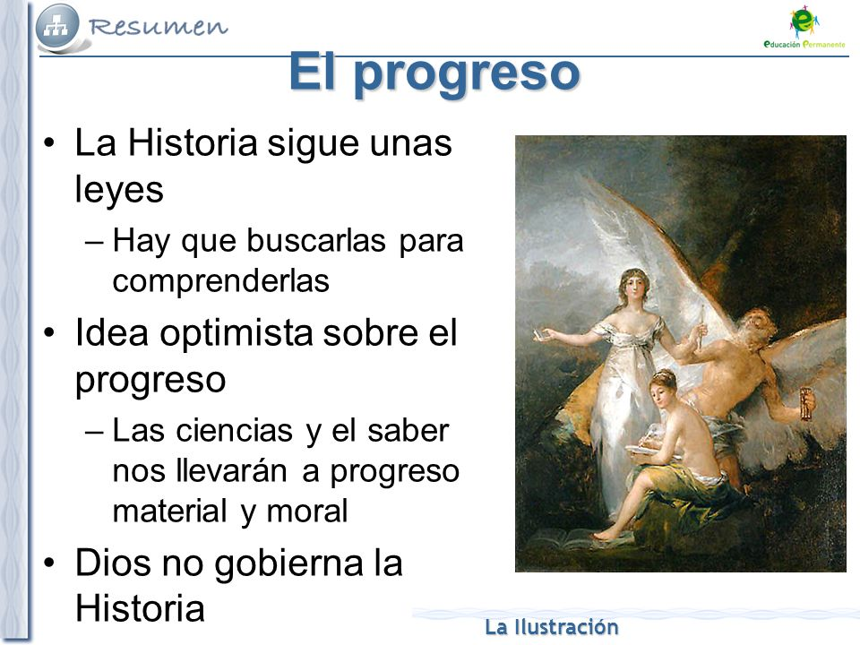 El progreso La Historia sigue unas leyes
