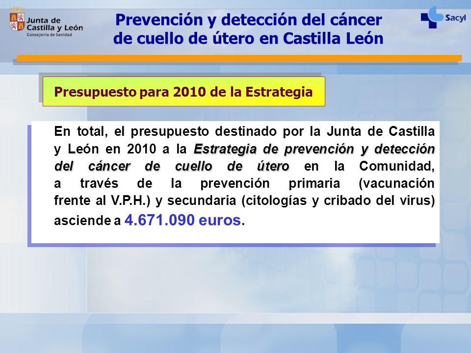 Prevención y detección del cáncer de cuello de útero en Castilla León