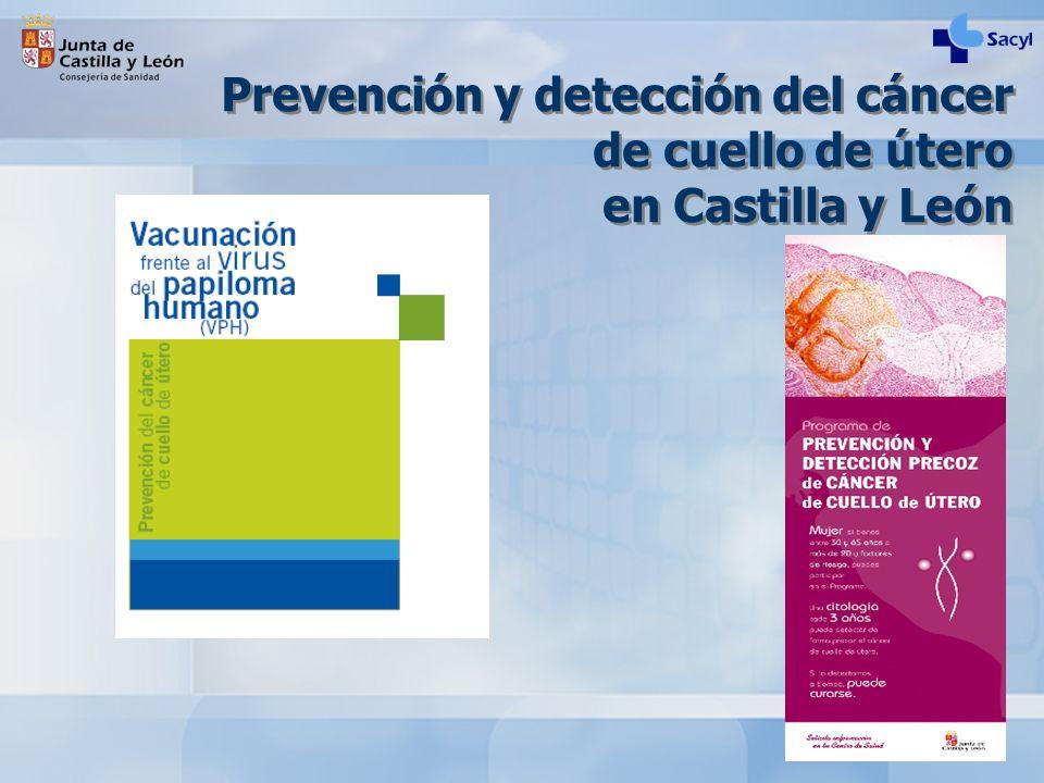 Prevención y detección del cáncer de cuello de útero en Castilla y León
