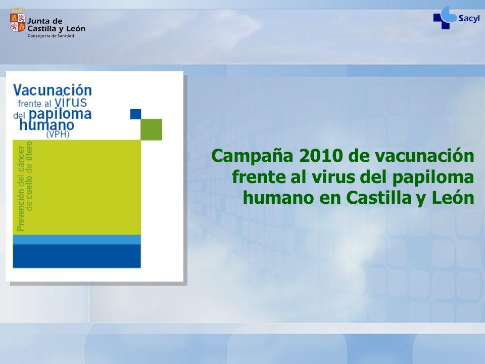Campaña 2010 de vacunación frente al virus del papiloma humano en Castilla y León