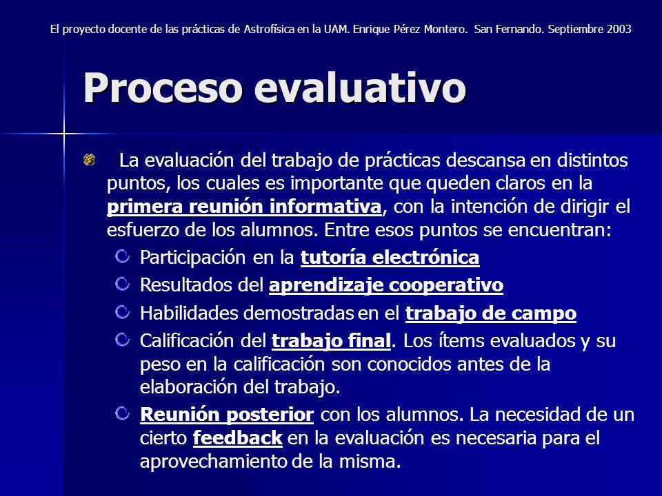 El proyecto docente de las prácticas de Astrofísica en la UAM