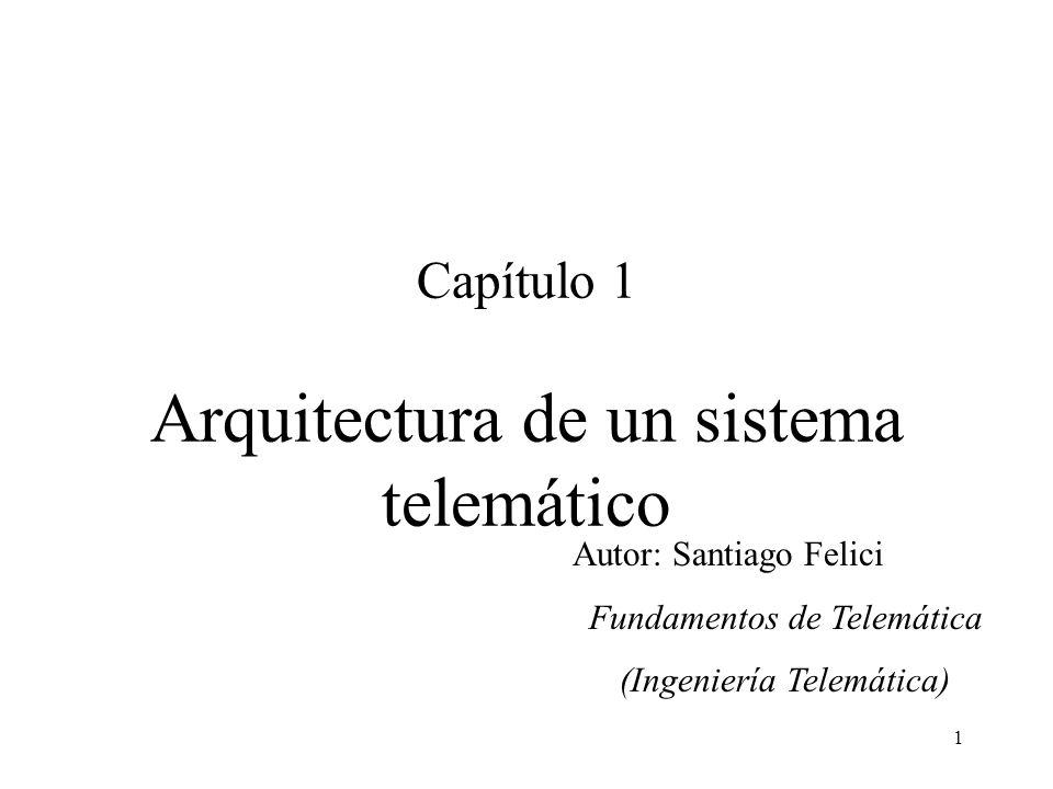 Capítulo 1 Arquitectura de un sistema telemático
