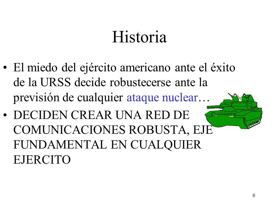 Historia El miedo del ejército americano ante el éxito de la URSS decide robustecerse ante la previsión de cualquier ataque nuclear…